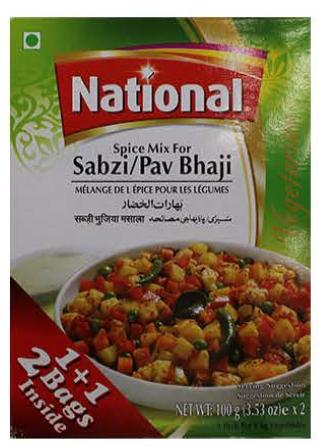National Spice Mix Sabzi/Pav Bhaji
