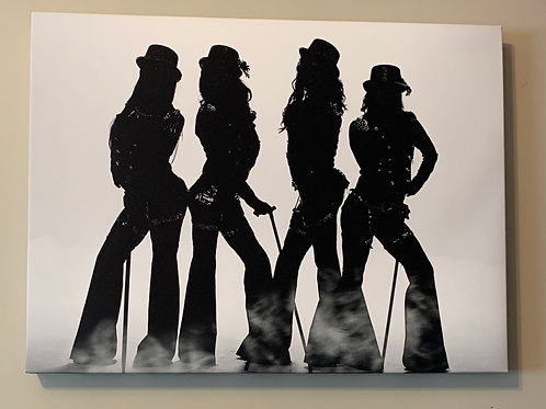 Limited Cosmic Girls Silhouette Print on Canvas