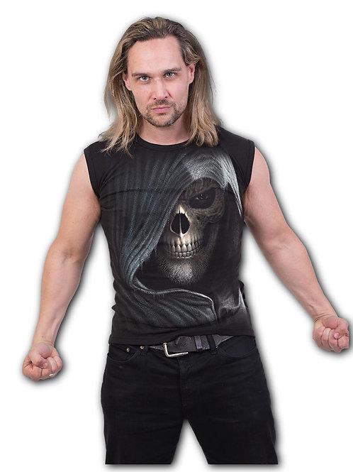 DARKNESS - Sleeveless T-Shirt Black (Plain)