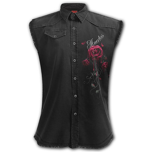 DAY OF THE DEAD - Sleeveless Worker Shirt Black (Plain)