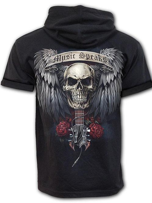 UNSPOKEN - Fine Cotton T-shirt Hoody Black (Plain)