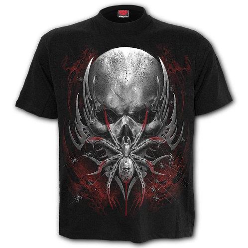 SPIDER SKULL - T-Shirt Black