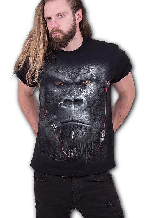 DEVOLUTION - Front Print T-Shirt Black