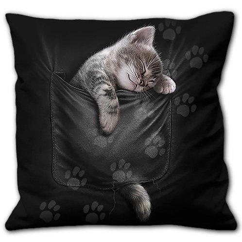 POCKET KITTEN - Square Cushion
