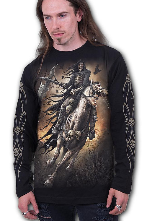 ZIPPED - Longsleeve T-Shirt Black