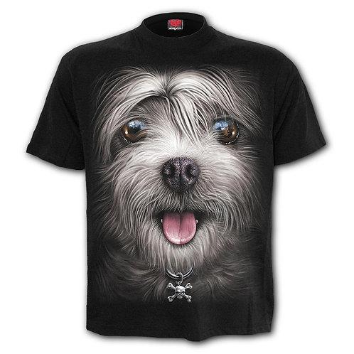 MISTY EYES - Front Print T-Shirt Black
