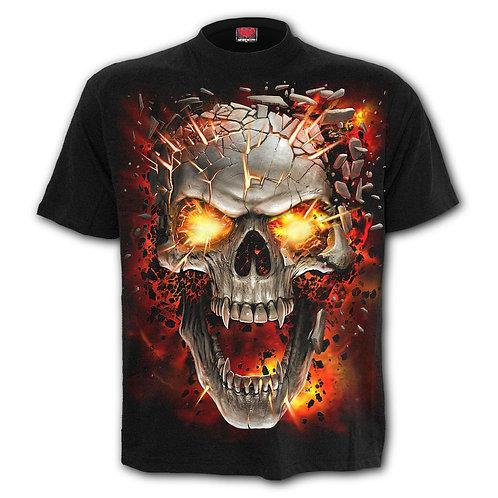 SKULL BLAST - T-Shirt Black
