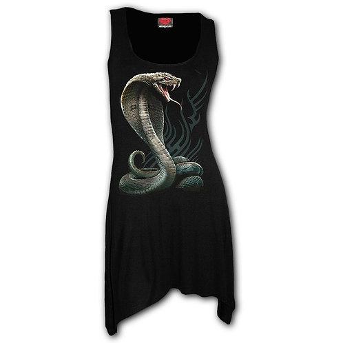 SERPENT TATTOO - Goth Bottom Camisole Dress Black (Plain)