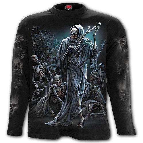DANCE OF DEATH - Longsleeve T-Shirt Black (Plain)