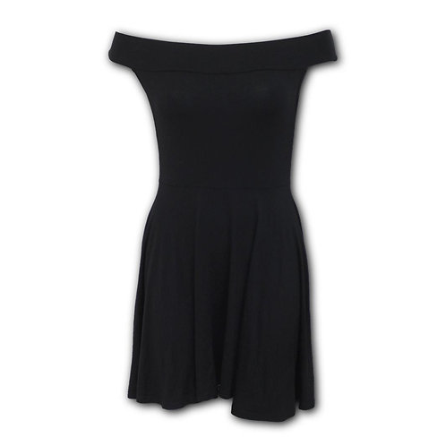 URBAN FASHION - Bardot Neck Skater Dress (Plain)
