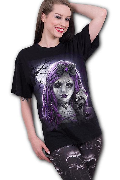 GOTH DOLL - Front Print T-Shirt Black