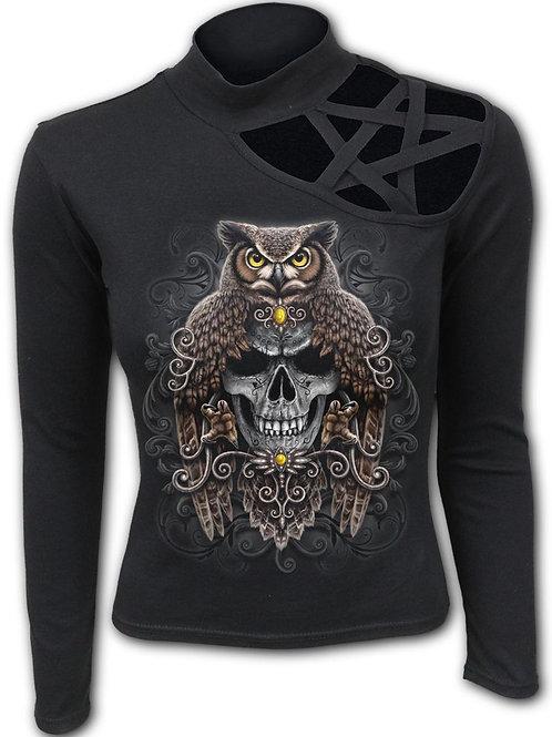 DEATH WISDOM - Pentagram Shoulder Longsleeve Top