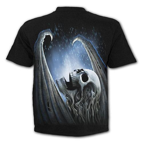 WINGED SKELTON - T-Shirt Black