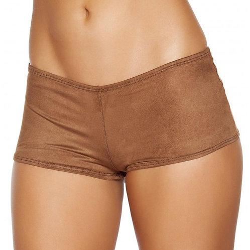 SH224 Brown Suede Boy Shorts
