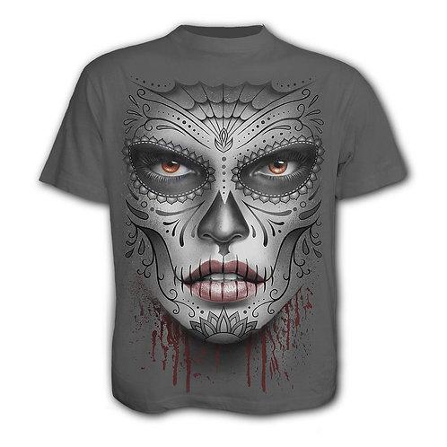 DEATH MASK - T-Shirt Charcoal (Plain)