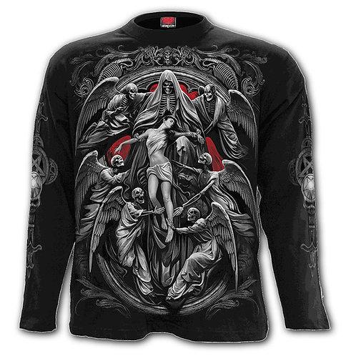 REAPER'S DOOR - Longsleeve T-Shirt Black (Plain)