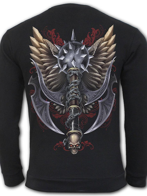 MACED SKULL - Heavy Pique Sweat Shirt  (Plain)
