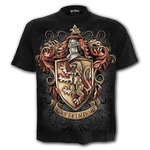 GRYFFINDOR CREST - T-Shirt Black