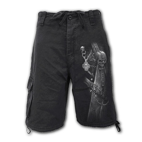 STRAPPED - Vintage Cargo Shorts Black (Plain)