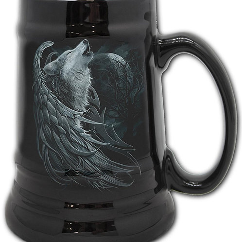 WOLF SPIRIT - Steins - Ceramic Beer Mug - Gift Boxed