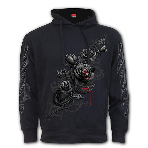 FATAL ATTRACTION - Side Pocket Stitched Hoody Black (Plain)