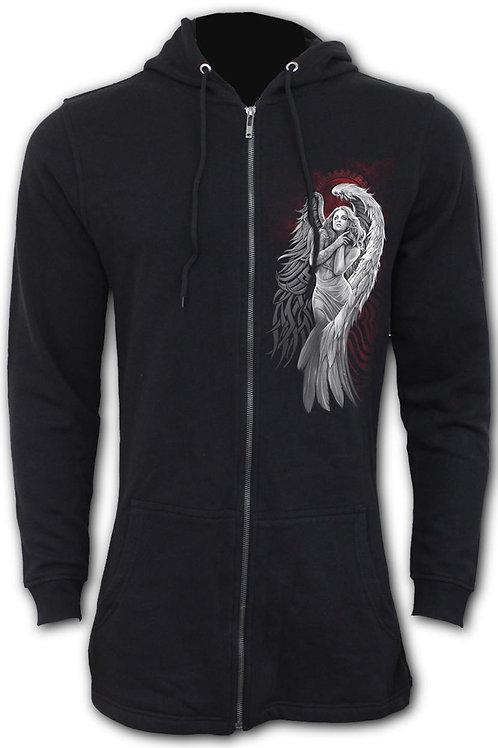 ANGEL DESPAIR - Ladies Fish Tail Full Zip Hoody - Zip Sleeve (Plain)