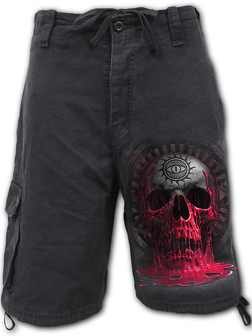BLEEDING SOULS - Vintage Cargo Shorts Black (Plain)