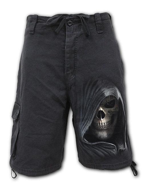 DARKNESS - Vintage Cargo Shorts Black (Plain)