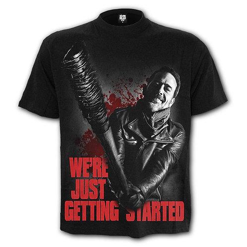 NEGAN - JUST GETTING STARTED - T-Shirt Black