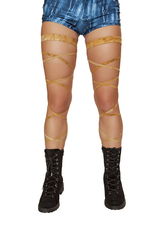 """3636 - 100"""" Suede Leg Strap with Attached Garter"""