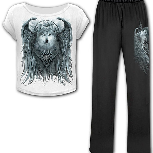 WOLF SPIRIT - 4pc Gothic Pyjama Set (Plain)