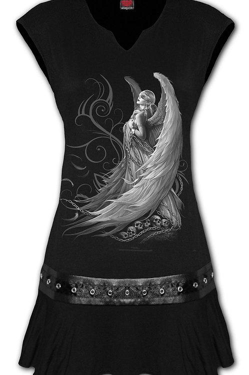 CAPTIVE SPIRITS - Stud Waist Mini Dress Black (Plain)