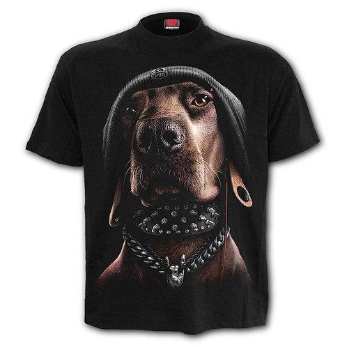 DAWG - Front Print T-Shirt Black