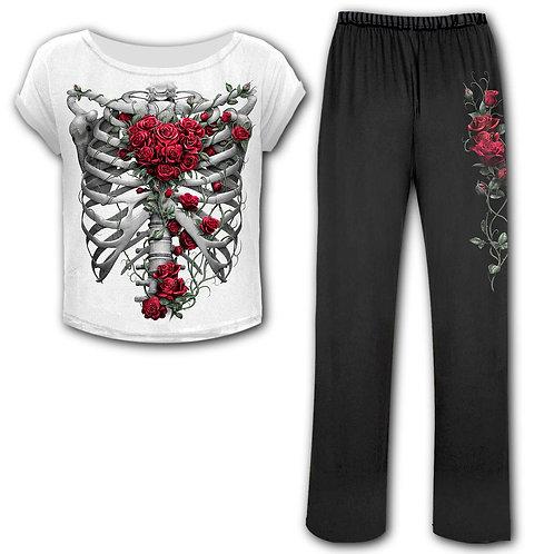 ROSE BONES - 4pc Gothic Pyjama Set (Plain)
