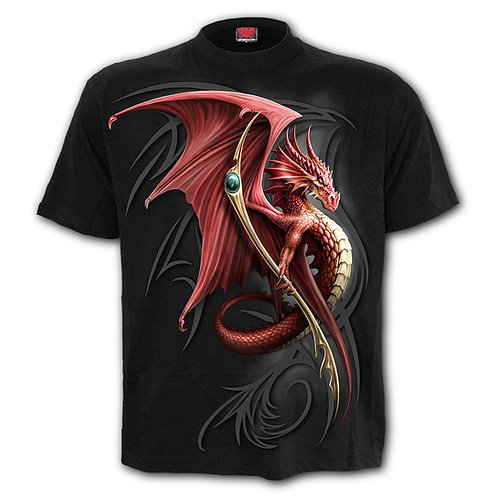 WYVERN - Front Print T-Shirt Black