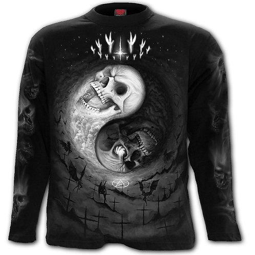 YIN YANG SKULLS - Longsleeve T-Shirt Black
