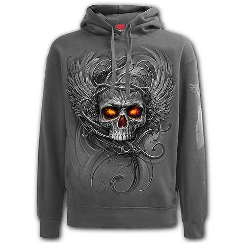 ROOTS OF HELL - Hoody Charcoal (Plain)