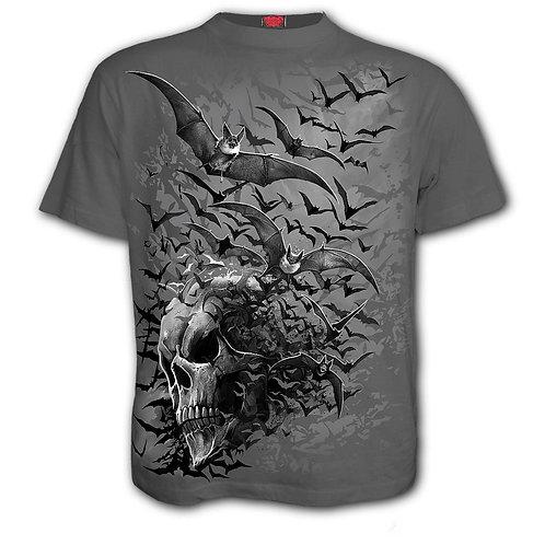 BAT SKULL - T-Shirt Charcoal (Plain)