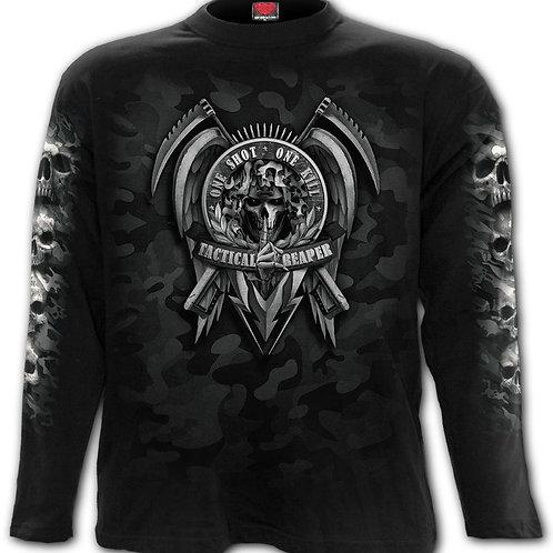 TACTICAL REAPER - Longsleeve T-Shirt Black (Plain)