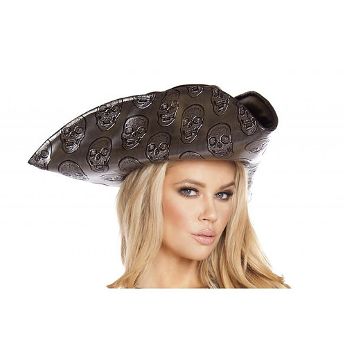 H4566 Skull Embroidered Pirate Hat