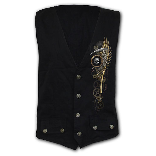 STEAM PUNK REAPER - Gothic Waistcoat Four Button with Lining (Plain)