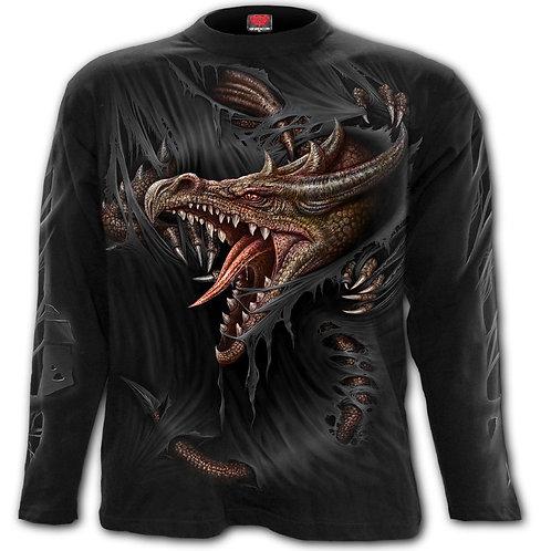 BREAKING OUT - Longsleeve T-Shirt Black