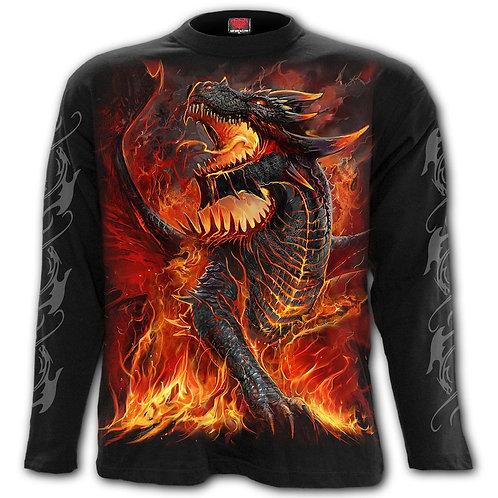 DRACONIS - Longsleeve T-Shirt Black (Plain)