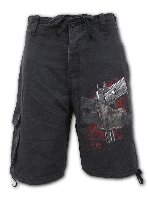 HOLSTER - Vintage Cargo Shorts Black (Plain)