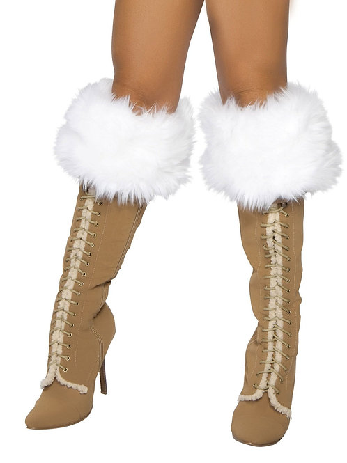 4240B - White Fur Boot Cuffs