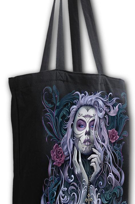 ROCOCO SKULL - Bag 4 Life - Canvas 80z Long Handle Tote Bag