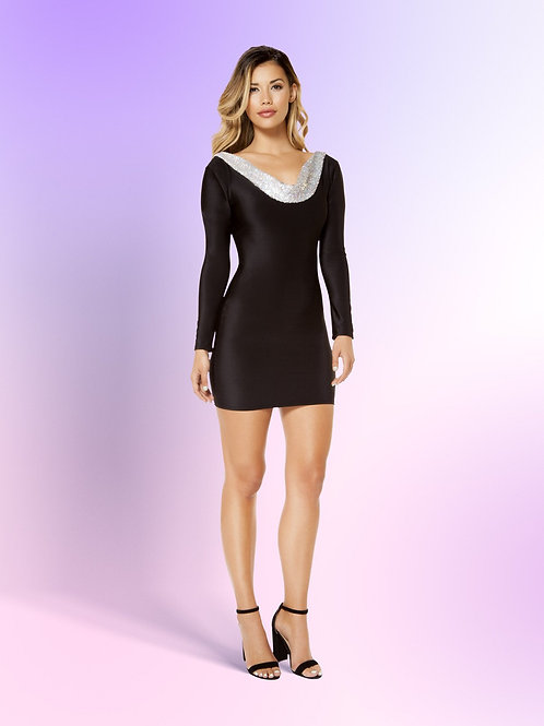 3367 - Bodycon Dress with Open Back Design
