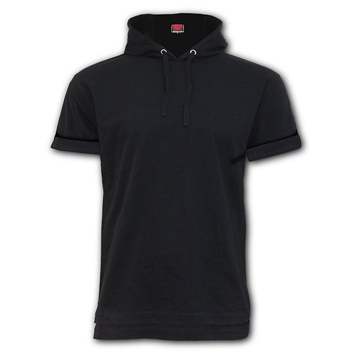 URBAN FASHION - Fine Cotton T-shirt Hoody Black (Plain)