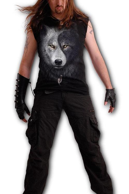 WOLF CHI - Sleeveless T-Shirt Black (Plain)