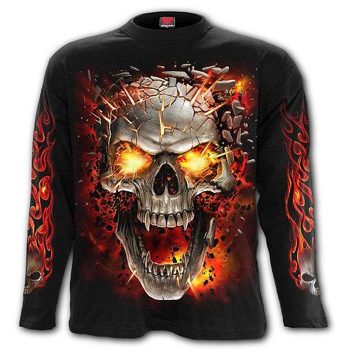 SKULL BLAST - Longsleeve T-Shirt Black